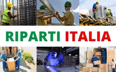 Riparti Italia: il progetto per aiutare artigiani e aziende